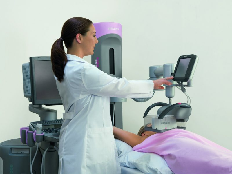 Mammograms are used to determine the most effective breast cancer therapies
